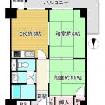 ※4階(南西角部屋):オーナーチェンジ(間取)