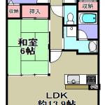 ☆5階東向きバルコニー(間取)