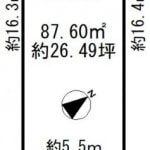 ※建築条件無し売土地(古家付)(間取)