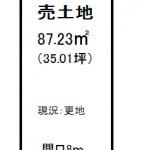 ⑬号地 ※建築条件無売土地(間取)