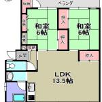 ☆南向き LDK約13.5帖(間取)