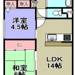 ☆1階角部屋・専用庭有☆(間取)
