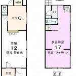 1階店舗・2階多目的室(間取)