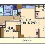 ☆最上階の東南角部屋の為、陽当たり・通風良好(間取)