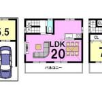 ①②号地共通:新築プラン2,399万円(間取)