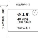 ※現況:古家有(建築条件付き売土地)(間取)