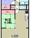 東向き5階部分(間取)