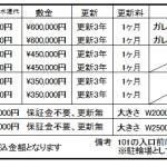 ★最新賃料表