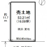 現況:更地(建築条件付き売土地)(間取)