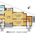 ★101号室の床はフローリング仕様(間取)